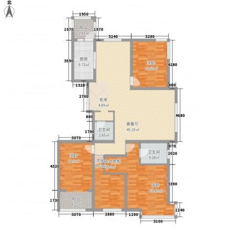 荣盛锦绣花苑4室1厅2卫1厨118.99㎡户型图