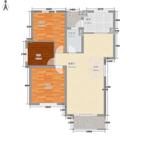 中太・阳光半岛3室1厅1卫1厨118.00㎡户型图
