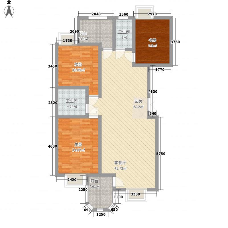 静沁园134.76㎡静沁苑户型3室2厅2卫1厨