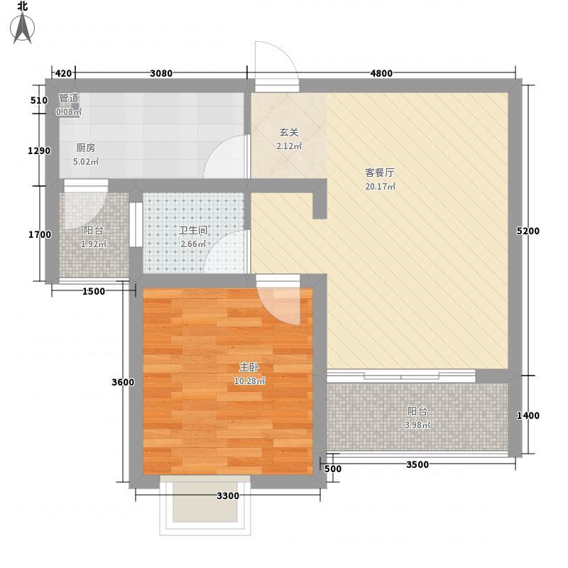 新水小区一居室22户型1室1厅1卫1厨