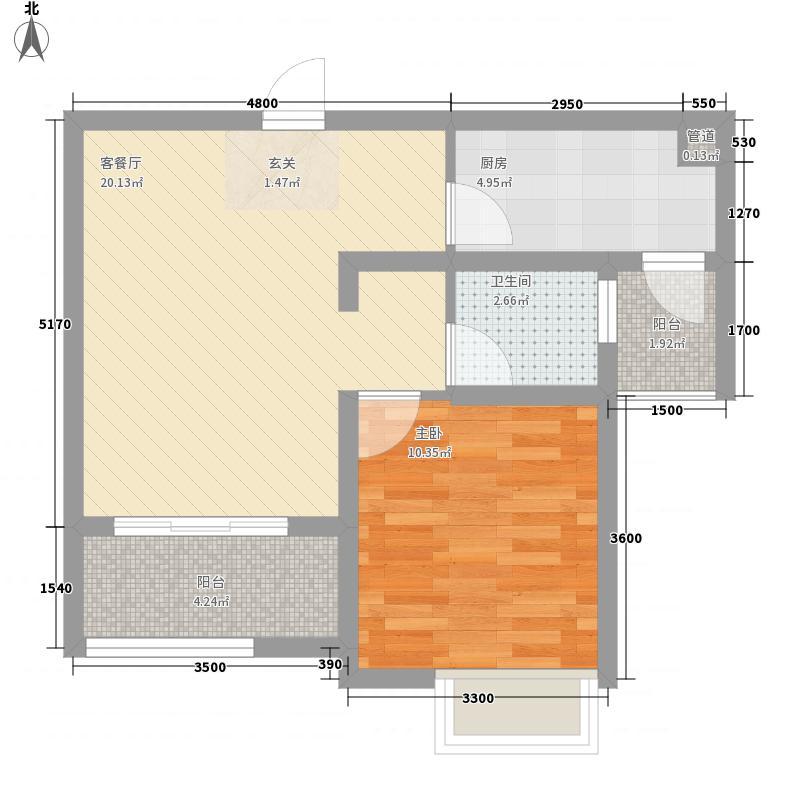 新水小区一居室23户型1室1厅1卫1厨