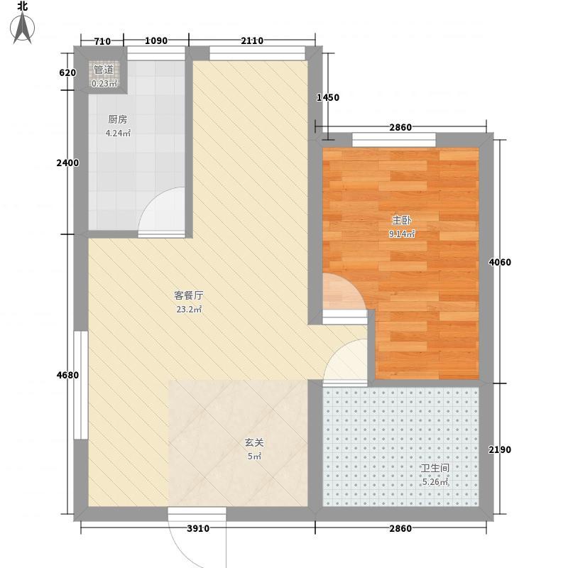 金凤凰海景公寓76.00㎡金凤凰海景公寓1室户型1室