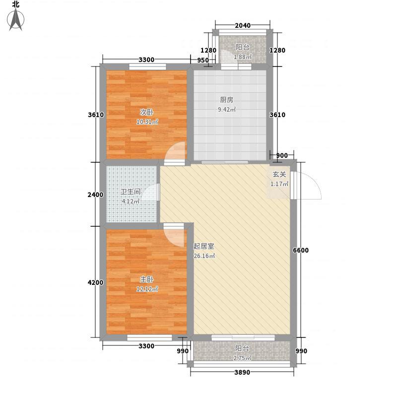幸福岛106.75㎡幸福岛户型图2室2厅1卫1厨户型10室