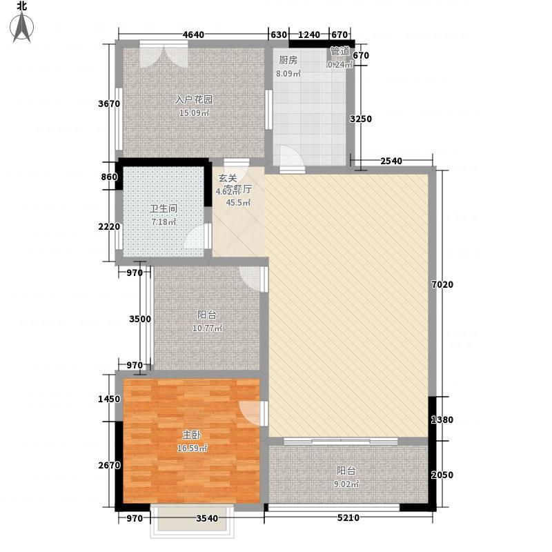 中珠豪庭158.00㎡户型4室