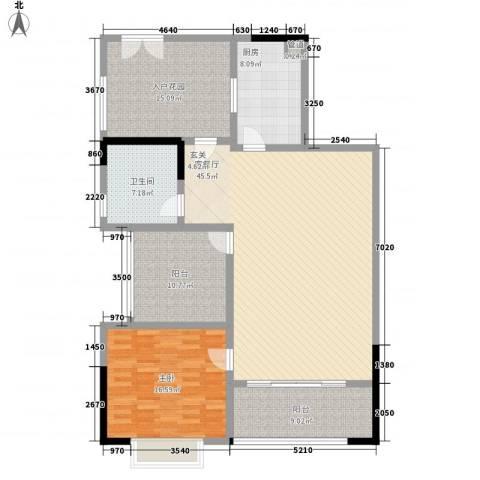 中珠豪庭1室1厅1卫1厨158.00㎡户型图
