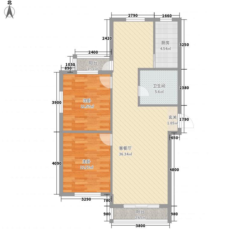 幸福岛113.51㎡幸福岛户型图2室2厅1卫1厨户型10室