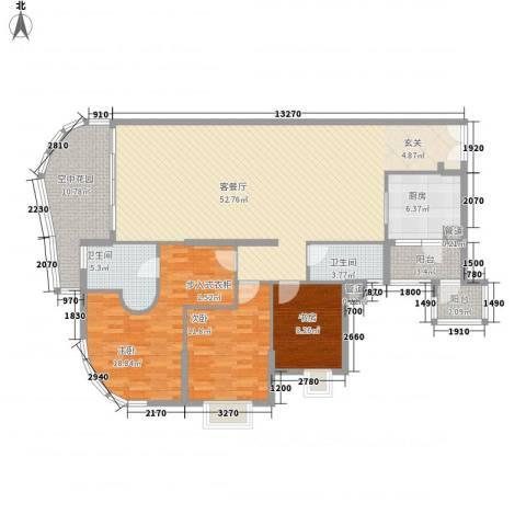 滨江明珠3室1厅2卫1厨174.00㎡户型图