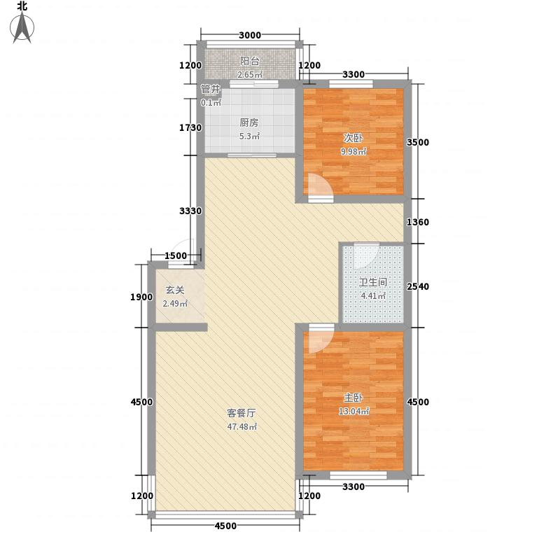 圣华庭110.19㎡圣华庭户型图2室2厅1卫户型10室