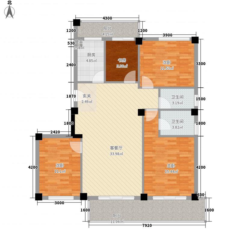 鳌峰花园100.00㎡鳌峰花园3室户型3室