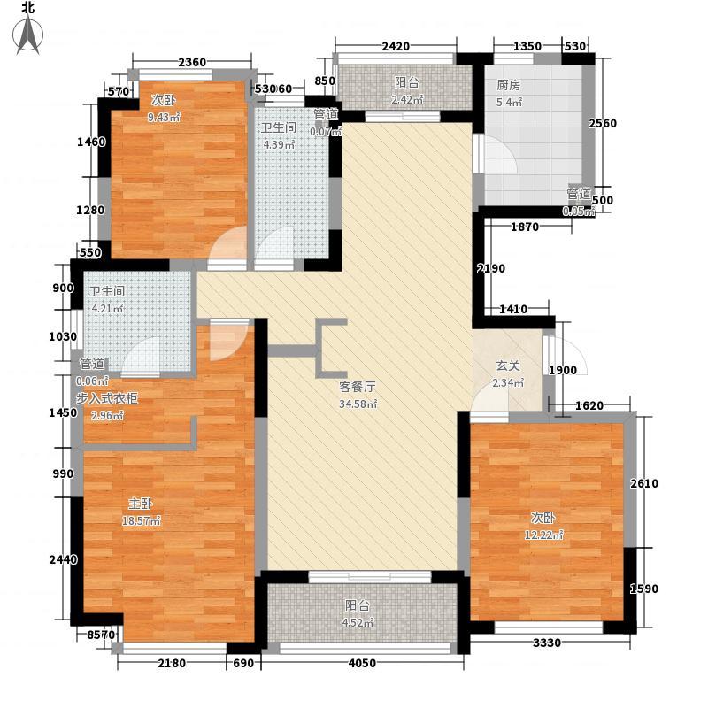 万立城13.00㎡-户型3室2厅2卫1厨