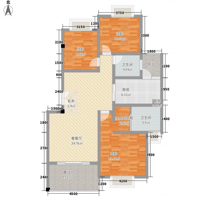 森林故事126.39㎡森林故事户型图3室2厅2卫1厨户型10室