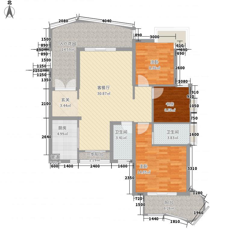 鹤润翡翠湾122.00㎡鹤润翡翠湾户型图B户型3室2厅2卫户型3室2厅2卫