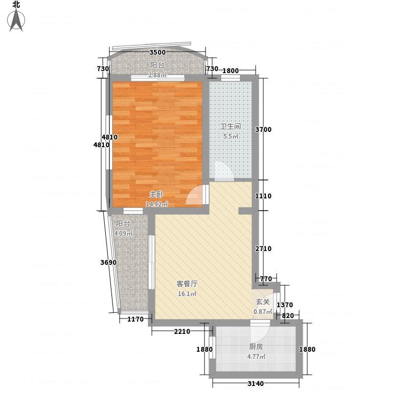 申江新苑70.54㎡申江新苑1室2厅0卫0厨户型1室2厅