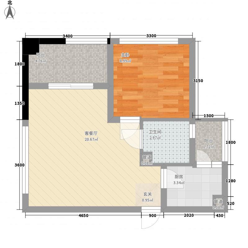 清馨苑一居室17户型1室1厅1卫1厨