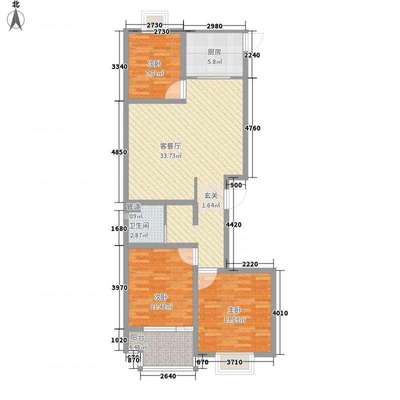 颐龙恒泰114.57㎡颐龙恒泰户型图1-D型3室2厅1卫1厨户型3室2厅1卫1厨