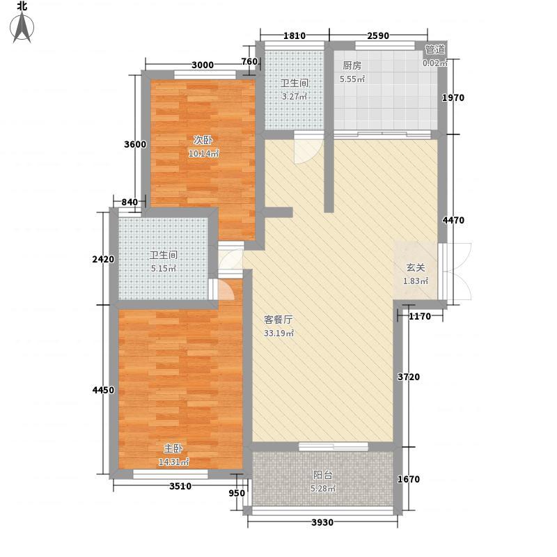 维多利橄榄城105.70㎡维多利橄榄城户型图5#D户型2室2厅2卫1厨户型2室2厅2卫1厨
