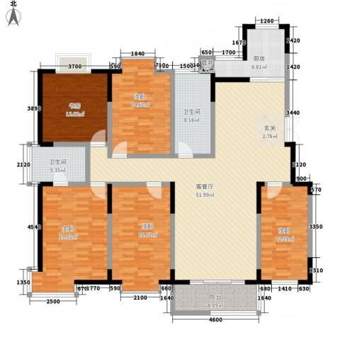 翠竹园5室1厅2卫1厨218.00㎡户型图