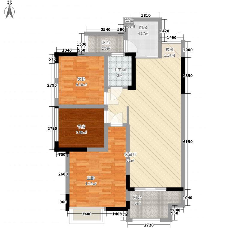 汇祥林里3000三期高层1、2号楼标准层户型