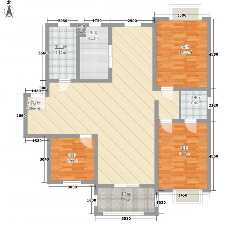 潇河湾104.11㎡潇河湾户型图户型G3室2厅1卫1厨户型3室2厅1卫1厨