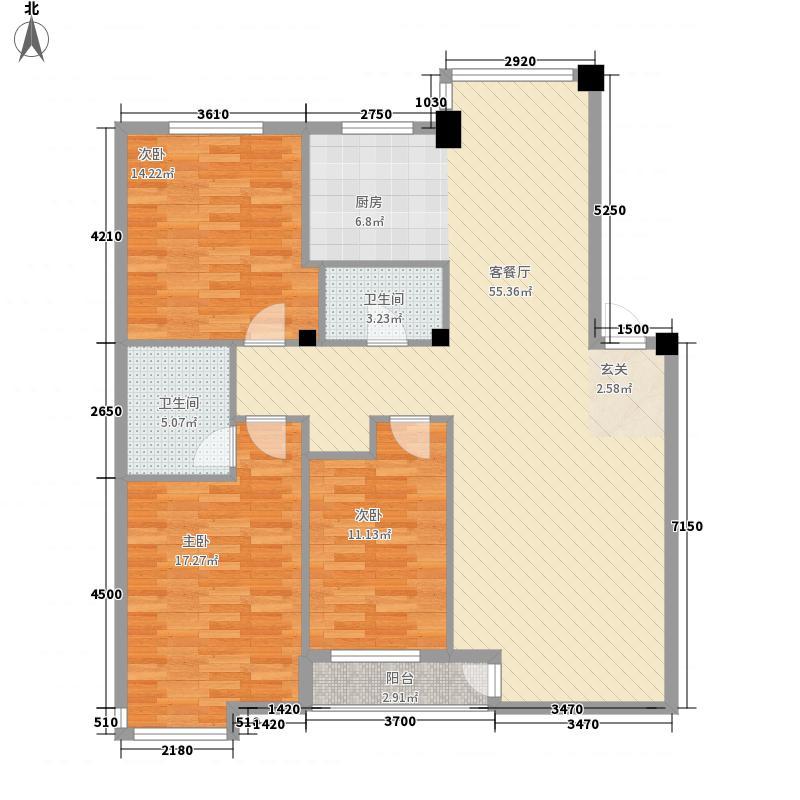开建康都134.92㎡开建康都户型图3室2厅2卫户型10室
