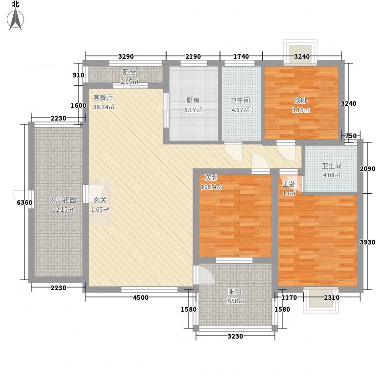 阳光金地136.10㎡阳光金地户型10室