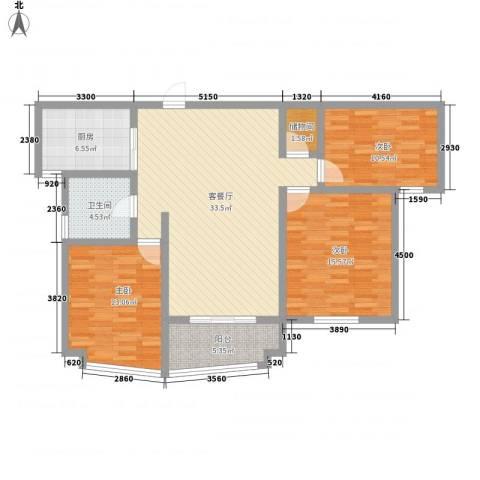 永宁花园3室1厅1卫1厨130.00㎡户型图