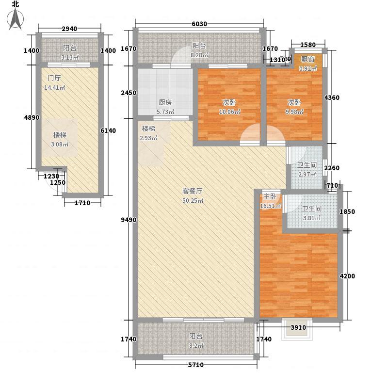 信和书香居147.00㎡M3复式户型3室3厅2卫