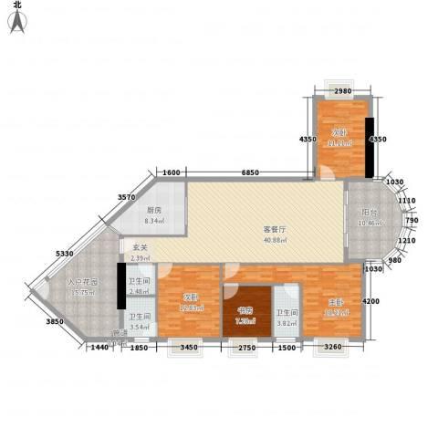 五邑锦绣豪庭4室1厅3卫1厨163.00㎡户型图