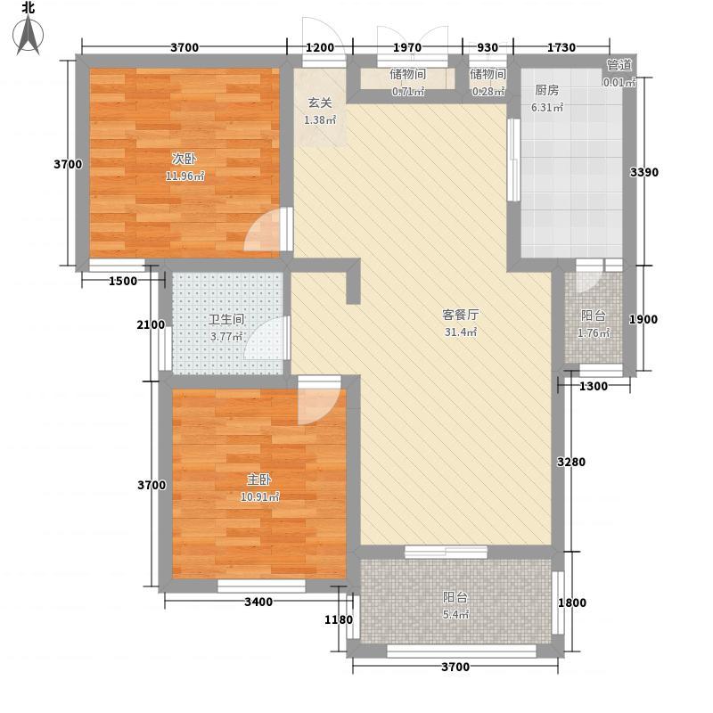 长安萨尔斯堡88.00㎡20080507-F户型2室2厅