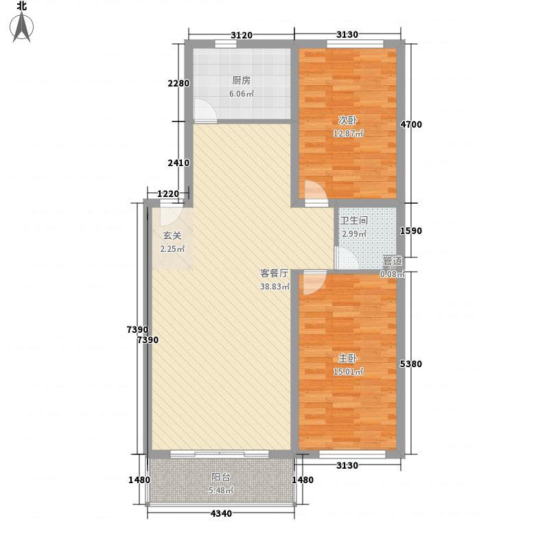 锦绣花园113.97㎡锦绣花园户型图2室2厅1卫1厨户型10室