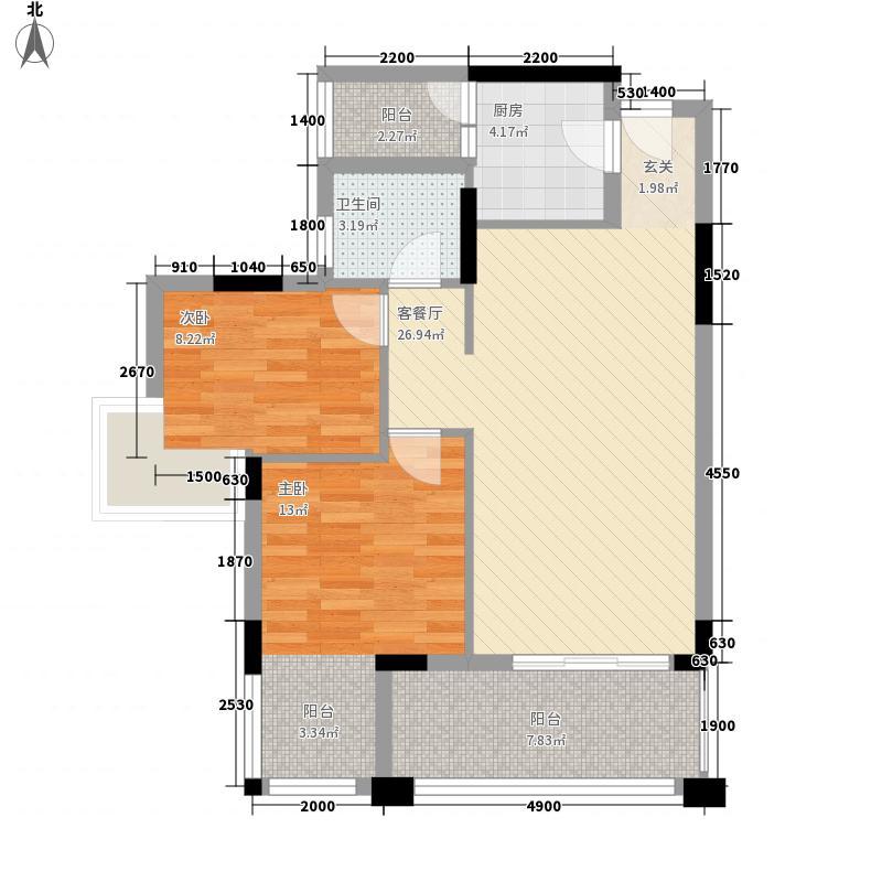旭景佳园79.66㎡旭景佳园户型图鲜活汇馆2室2厅1卫户型2室2厅1卫
