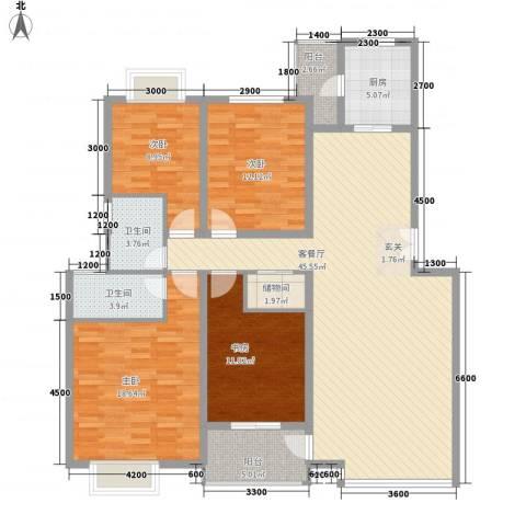龙居山庄4室1厅2卫1厨169.00㎡户型图
