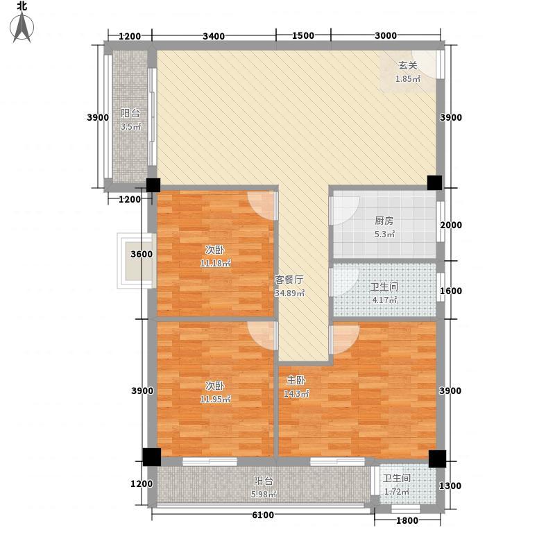 会景阁2.00㎡户型3室