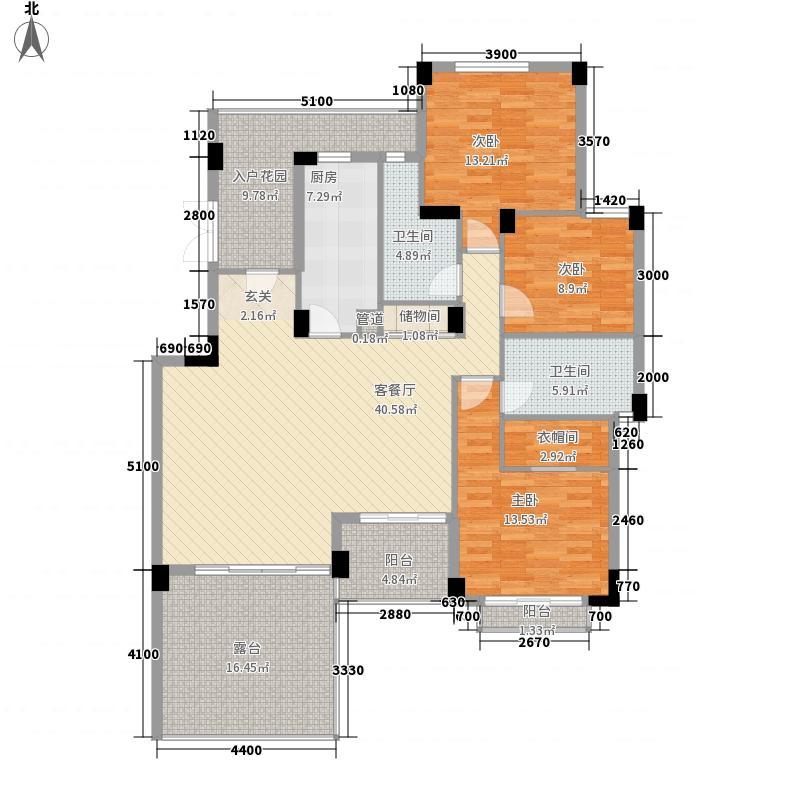 金菲豪园140.21㎡3号楼1、2、3单元301号房户型3室2厅2卫1厨