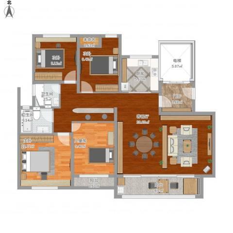 幸福小区4室1厅2卫1厨150.00㎡户型图