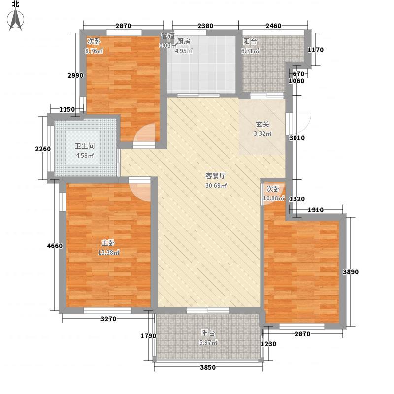 华西格林春天118.00㎡三期36#楼西户和中户高层D2户型3室2厅1卫