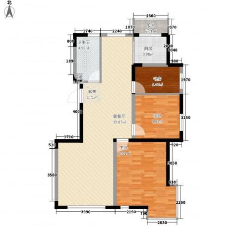 宇都和源3室1厅1卫1厨78.02㎡户型图