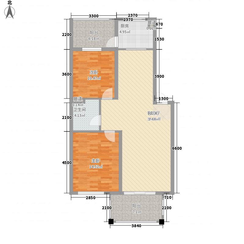 紫馨苑两居室户型