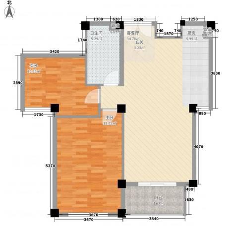 金湾新城二期2室1厅1卫0厨81.39㎡户型图