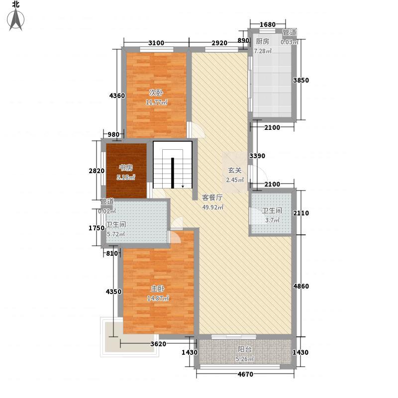 宝湖天下281.00㎡M首层复式户型5室3厅3卫1厨