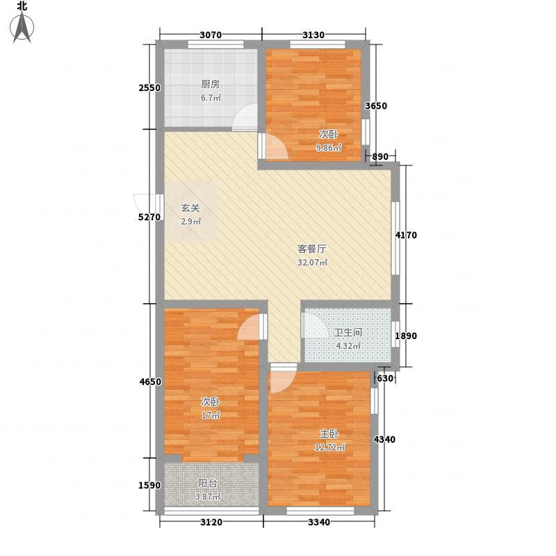 汶水花园117.00㎡5户型3室2厅1卫1厨