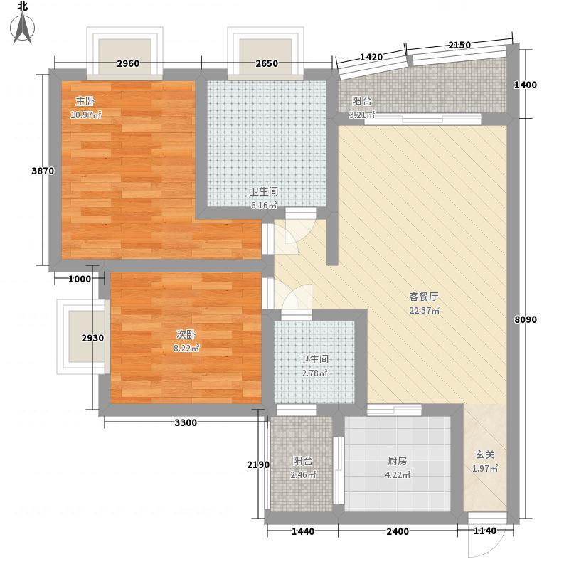 奥运花园89.96㎡奥运花园户型图3室2厅2卫1厨户型10室
