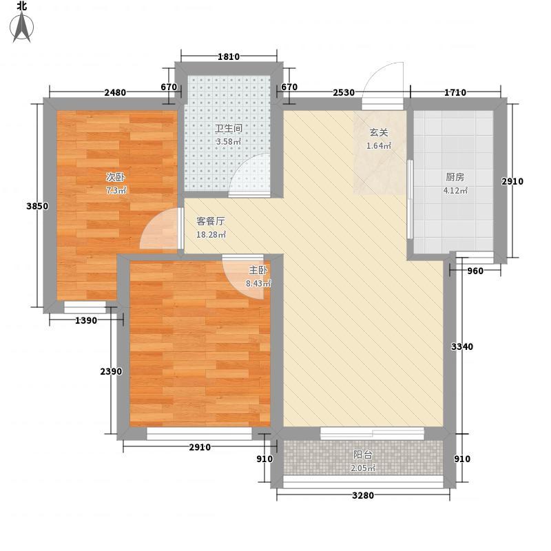亿锋广场64.00㎡亿锋广场户型图1#楼D1户型2室2厅1卫1厨户型2室2厅1卫1厨