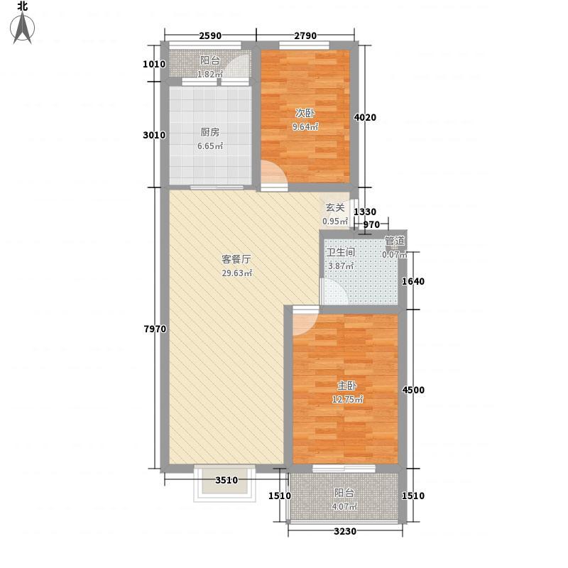 天建天和园95.00㎡天建天和园户型图夏园16号楼两室两厅2室2厅1卫户型2室2厅1卫