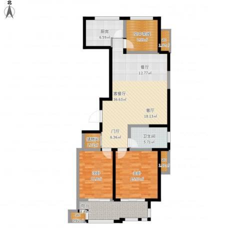 紫金城2室1厅1卫1厨139.00㎡户型图