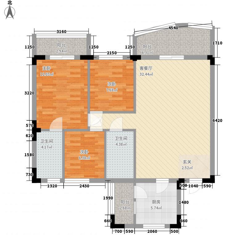 侨苑山庄121.00㎡侨苑山庄3室户型3室