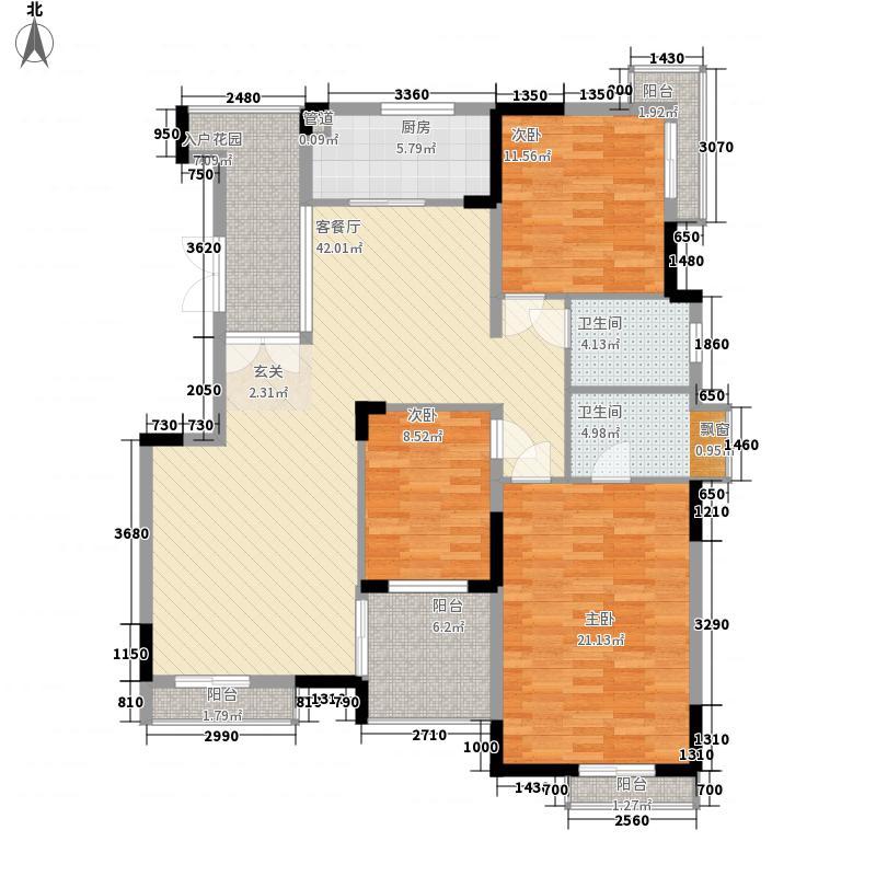 城市风景二期138.00㎡城市风景二期4室户型4室
