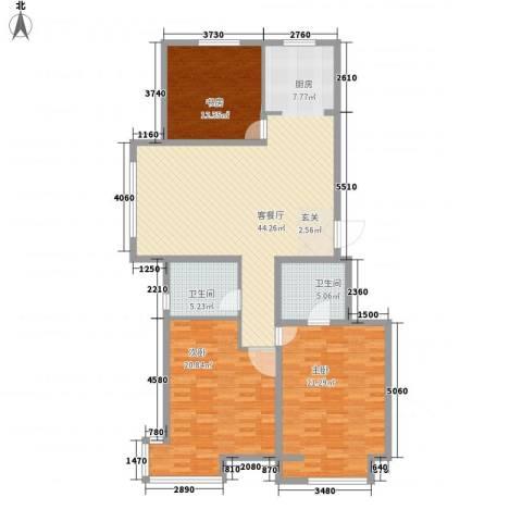 英伦华府3室1厅2卫0厨125.00㎡户型图