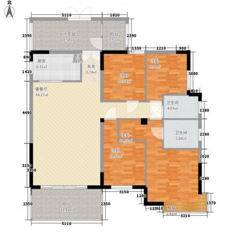 中央公馆海德堡4室1厅2卫1厨150.00㎡户型图