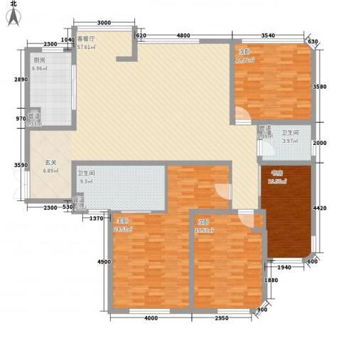 古龙居住公园4室1厅2卫1厨201.00㎡户型图